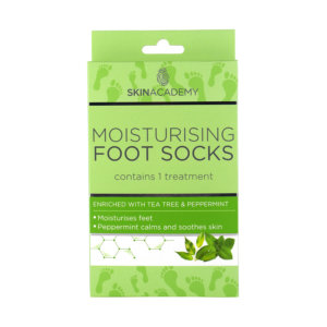 Skin Academy Moisturising Foot Socks – Tea Tree & Peppermint