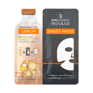 Skin Academy Indulge Regenerating Serum Sheet Mask – 25ml